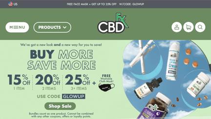 CBDfx website